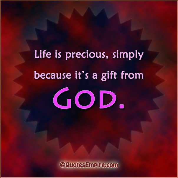 life is a gift of god The bible describes life as a sacred gift from heaven to honor the sanctity of life if human life is a gift from god the value of life.